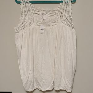 Gap XL tank with lace accent